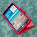 LG G Vista - Pink MPERO FLEX FLIP 2 Wallet Stand Case Cover Angle 5