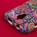 Huawei Vitria - Black Paisley MPERO SNAPZ - Rubberized Case Cover Angle 6