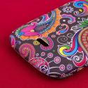 Huawei Vitria - Black Paisley MPERO SNAPZ - Rubberized Case Cover Angle 7