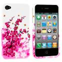 Apple iPhone 4 / 4S Spring Flowers Design Crystal Hard Case Cover Angle 1