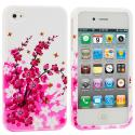 Apple iPhone 4 / 4S Spring Flowers Design Crystal Hard Case Cover Angle 2