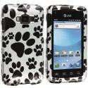 Samsung Rugby Smart i847 Dog Paw Design Crystal Hard Case Cover Angle 1