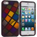 Apple iPhone 5/5S/SE Color Ball Hard Rubberized Design Case Cover Angle 1