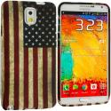 Samsung Galaxy Note 3 N9000 USA Flag TPU Design Soft Case Cover Angle 1