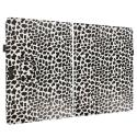 Microsoft Surface Pro 3 Design Leopard Black White Folio Pouch Flip Case Cover Stand Angle 2