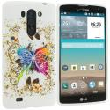 LG G Vista Colorful Butterfly TPU Design Soft Rubber Case Cover Angle 1
