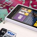 Nokia Lumia 925 - Mint MPERO FLEX FLIP Wallet Case Cover Angle 4