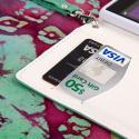 Nokia Lumia 925 - Mint MPERO FLEX FLIP Wallet Case Cover Angle 5