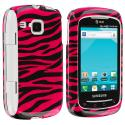 Samsung Doubletime i857 Black / Hot Pink Zebra Design Crystal Hard Case Cover Angle 1