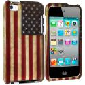 Apple iPod Touch 4th Generation USA Flag 2D Hard Rubberized Design Case Cover Angle 1