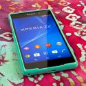 Sony Xperia Z2 - Mint Green MPERO FLEX S - Protective Case Cover Angle 2