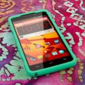 ZTE Boost Max - Mint Green MPERO SNAPZ - Rubberized Case Cover Angle 2