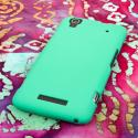 ZTE Boost Max - Mint Green MPERO SNAPZ - Rubberized Case Cover Angle 3