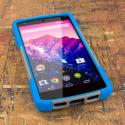 Google Nexus 5 D820 D821 - Hot Pink MPERO IMPACT X - Kickstand Case Cover Angle 2