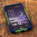 LG G Flex - Blue/ Green MPERO IMPACT X - Kickstand Case Cover Angle 2