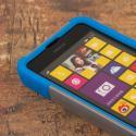 Nokia Lumia 635 - Blue / Gray MPERO IMPACT X - Kickstand Case Cover Angle 5