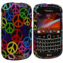 BlackBerry Bold Touch 9900 9330 Peace Sign Design Crystal Hard Case Cover Angle 1