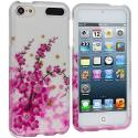 Apple iPod Touch 5th 6th Generation Spring Flowers Hard Rubberized Design Case Cover Angle 1