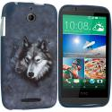 HTC Desire 510 512 Wolf TPU Design Soft Rubber Case Cover Angle 1