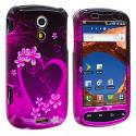 Samsung Epic 4G Purple Love Design Crystal Hard Case Cover Angle 1