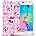 Samsung Galaxy S6 Cute Skulls TPU Design Soft Rubber Case Cover Angle 1