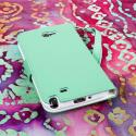 Samsung Galaxy Note 2 - Mint/ White MPERO FLEX FLIP Wallet Case Cover Angle 3