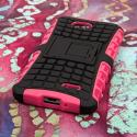 LG Optimus L70 - Hot Pink MPERO IMPACT SR - Kickstand Case Cover Angle 3
