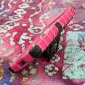 LG Optimus L70 - Hot Pink MPERO IMPACT SR - Kickstand Case Cover Angle 4