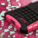 LG Optimus L70 - Hot Pink MPERO IMPACT SR - Kickstand Case Cover Angle 6