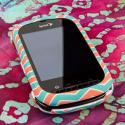 Kyocera Milano - Mint Chevron MPERO SNAPZ - Rubberized Case Cover Angle 2