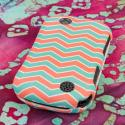 Kyocera Milano - Mint Chevron MPERO SNAPZ - Rubberized Case Cover Angle 3