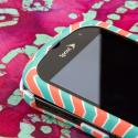 Kyocera Milano - Mint Chevron MPERO SNAPZ - Rubberized Case Cover Angle 4