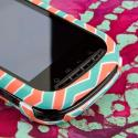 Kyocera Milano - Mint Chevron MPERO SNAPZ - Rubberized Case Cover Angle 5