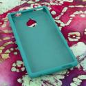 HTC 8XT MPERO Full Protection Hard Rubberized Teal Case Cover Angle 2
