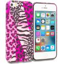 Apple iPhone 5/5S/SE Bowknot Zebra TPU Design Soft Rubber Case Cover Angle 1