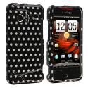 HTC Droid Incredible 6300 Polka Dot Design Crystal Hard Case Cover Angle 1