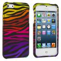 Apple iPhone 5/5S/SE Motley Zebra Hard Rubberized Design Case Cover Angle 1