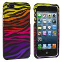 Apple iPhone 5/5S/SE Motley Zebra Hard Rubberized Design Case Cover Angle 2