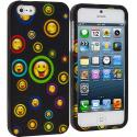 Apple iPhone 5/5S/SE Cartoon Smile Hard Rubberized Design Case Cover Angle 1