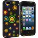 Apple iPhone 5/5S/SE Cartoon Smile Hard Rubberized Design Case Cover Angle 2