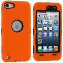 Apple iPod Touch 5th 6th Generation Orange Deluxe Hybrid Deluxe Hard/Soft Case Cover Angle 1