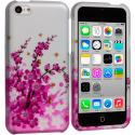 Apple iPhone 5C Spring Flowers Hard Rubberized Design Case Cover Angle 1