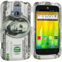 ZTE Radiant Hundred Dollars 2D Hard Rubberized Design Case Cover Angle 1