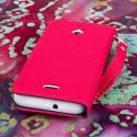 Huawei Valiant - Hot Pink MPERO FLEX FLIP Wallet Case Cover Angle 3