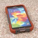 Samsung Galaxy S5 Mini - Sandstone / Gray MPERO IMPACT X - Kickstand Case Angle 2