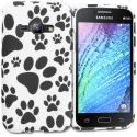 For Samsung Galaxy J1 2016 / Amp 2 / Express 3 / Luna S120 Dog Paw TPU Design Soft Rubber Case Cover Angle 1