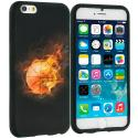 Apple iPhone 6 6S (4.7) Flaming Basketball TPU Design Soft Case Cover Angle 1