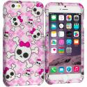 Apple iPhone 6 Plus 6S Plus (5.5) Cute Skulls 2D Hard Rubberized Design Case Cover Angle 1