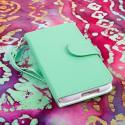 Alcatel OneTouch Fierce - Mint/ White MPERO FLEX FLIP Wallet Case Cover Angle 2