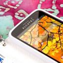 Alcatel OneTouch Fierce - Mint/ White MPERO FLEX FLIP Wallet Case Cover Angle 5